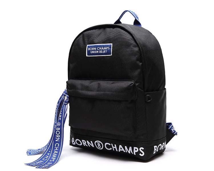 BORNCHAMPS X UNIONOBJET TAPE BAG バックパック 黒色