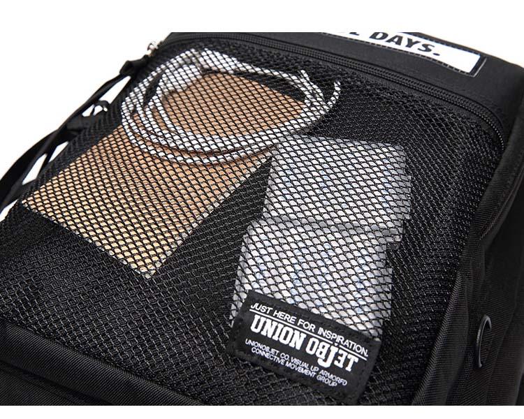 UNIONOBJET 3D MESH バックパック M02 黒色