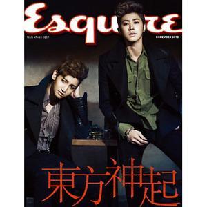 韓国男性雑誌 Esquire(エスクァイア)2012年12月号 東方神起写真記事掲載[送料無料]