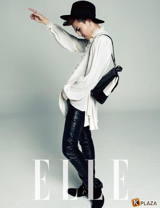 韓国雑誌 ELLE (エル)2014年2月号 Gドラゴン10ページ掲載![送料無料]