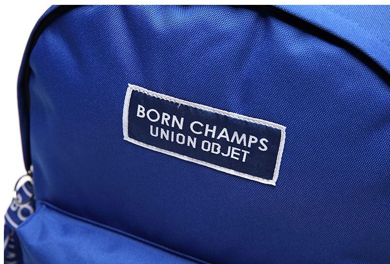 EXOシウミン&NCTマーク着用で話題!BORNCHAMPS X UNIONOBJET TAPE BAG バックパック/リュック ブルー(青) 2017年S/S新作!