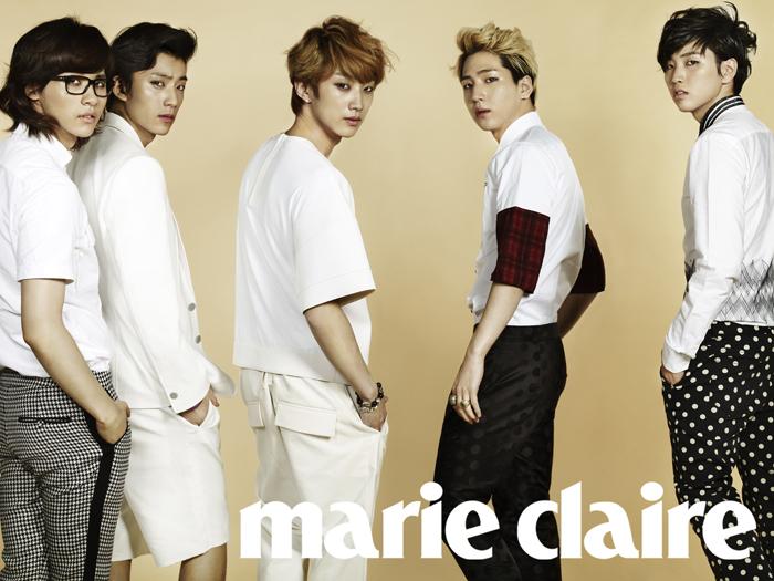 韓国雑誌 marie claire(マリクレール)2013年5月号-B1A4、キム・スヒョン、チョン・ドヨン、スエ掲載(送料込み)