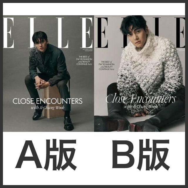 ELLE シンガポール版 2020年10月号 チ・チャンウク表紙 【予約/※本雑誌は韓国雑誌ではなくELLE Singaporeです】