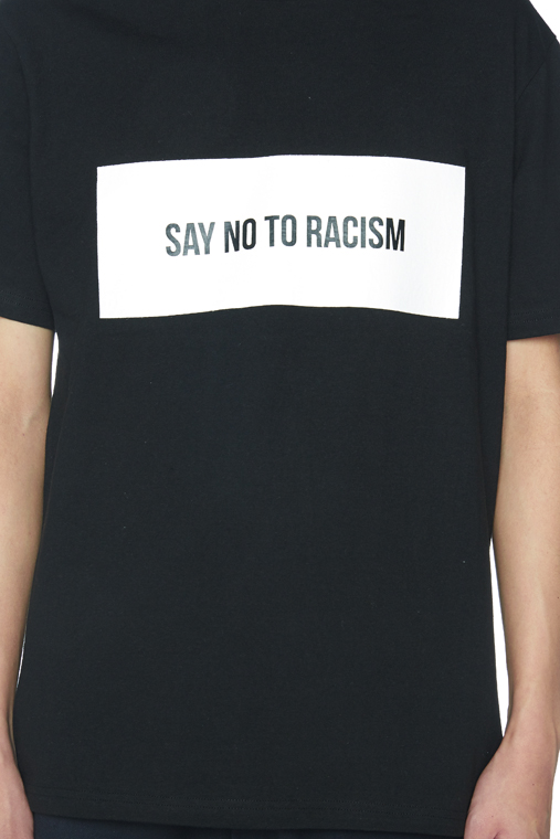 EXOベッキョン着用♪ SAY NO TO RACISM T-SHIRTS(黒)