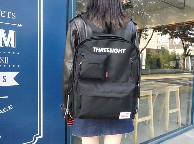 ABROAD Threeeight Backpack(ブラック) 韓国の学生に大人気のリュック♪