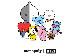 防弾少年団 BT21公式グッズ トートバッグ/エコバッグ(RJ, CHIMMY, COOKY, TATA, KOYA, SHOOKY, MANG, VAN)