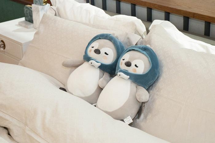「愛の不時着」 ペンギンぬいぐるみ人形(ブルー) 32cm/ユン・セリ(ソン・イェジン)人形