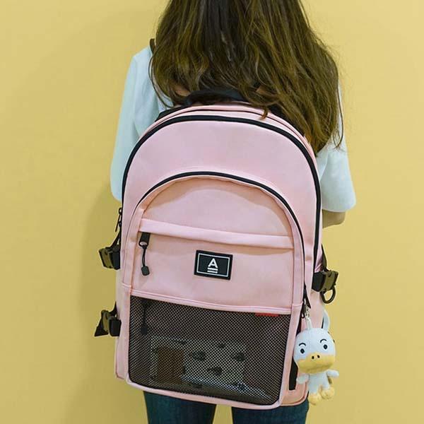 ABROAD Crazy バックパック ピンク 韓国の学生に大人気のリュック♪