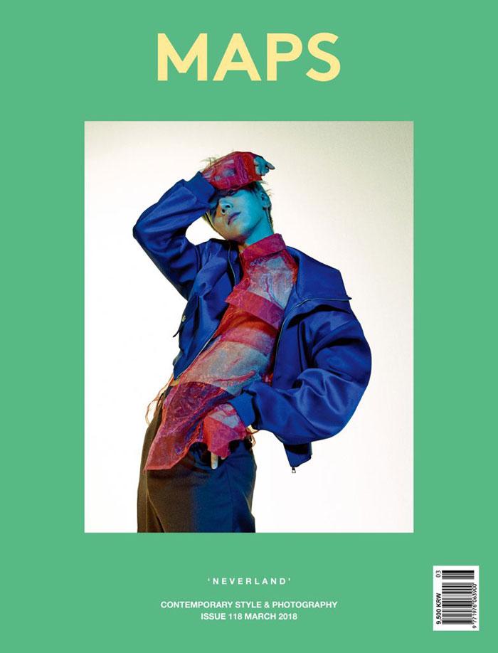 韓国雑誌 MAPS 2018年3月号 表紙ランダム発送(SUPER JUNIORイェソン or NCT テン表紙)