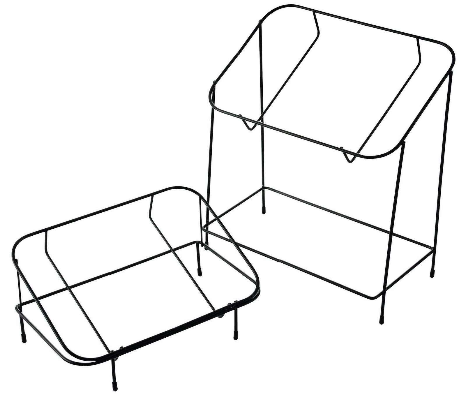 ワイヤースタンド二段傾斜型(ブラック)