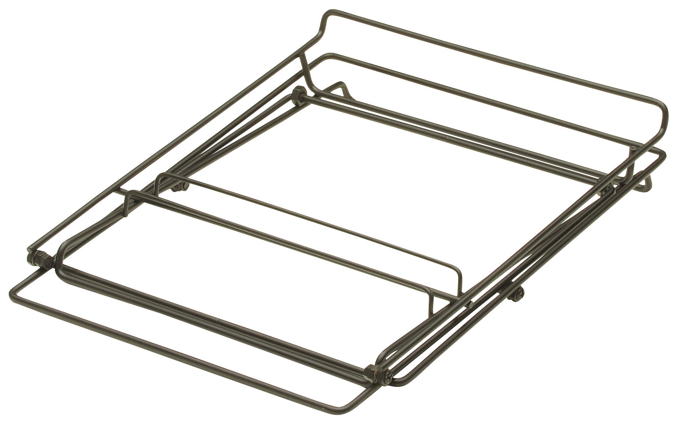 ワイヤースタンド二段折畳型(ブラック)