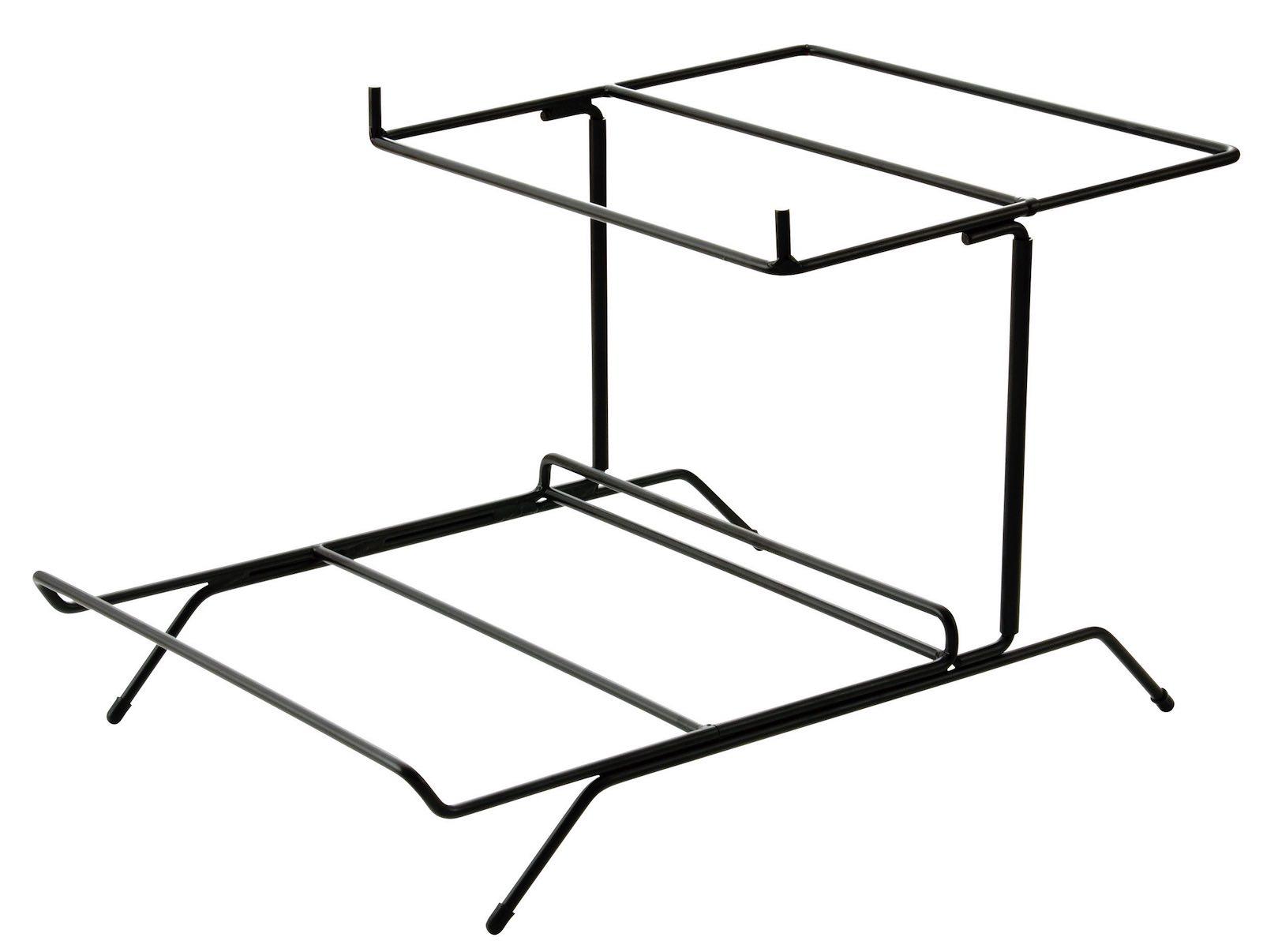 ワイヤースタンド二段水平型(ブラック)