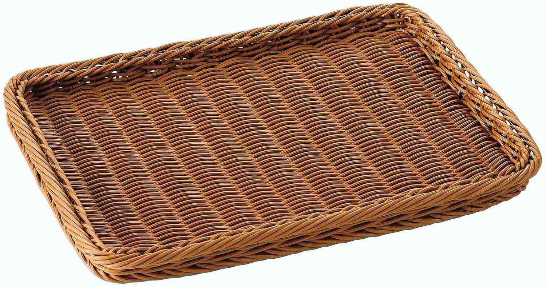 角型ディスプレイバスケット25(ブラウン)