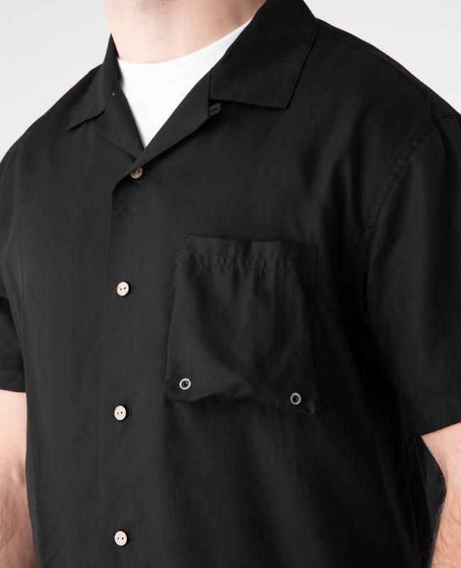接触冷感開襟半袖シャツ MENS 2055100