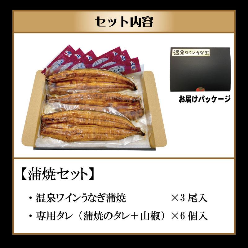 甲信食糧 【冷蔵】温泉ワインうなぎ(蒲焼3尾)