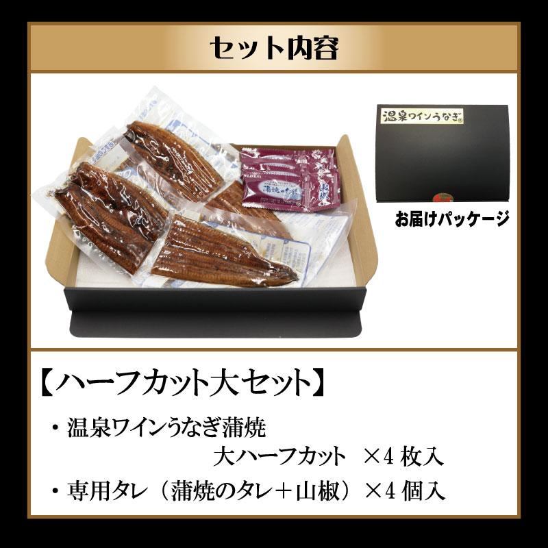 甲信食糧 温泉ワインうなぎハーフカットセット(大2尾分)