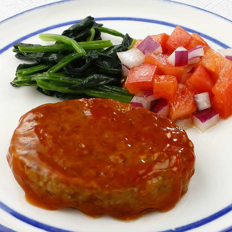 ベスト FMうす味国産鶏豚使用のハンバーグ(ケチャップ)(60g×10)