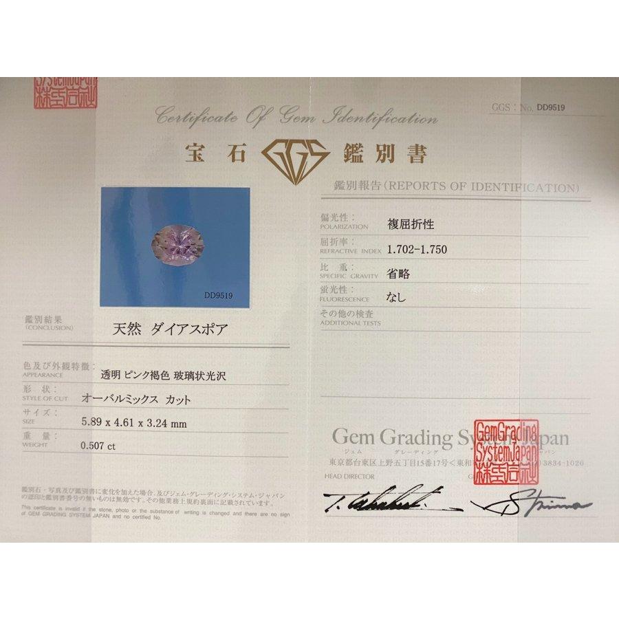 レアストーン☆ ピンク ダイアスポア 0.507ct