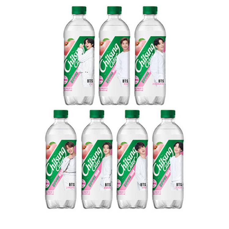 【数量限定】BTS 防弾少年団 チルソン サイダー (1ボトル売り メンバー選択可能 桃味)