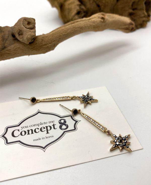 【Concept8・ピアス】ブロンズポラリス スティック ダングル (両耳用/2個セット) (ピアス)