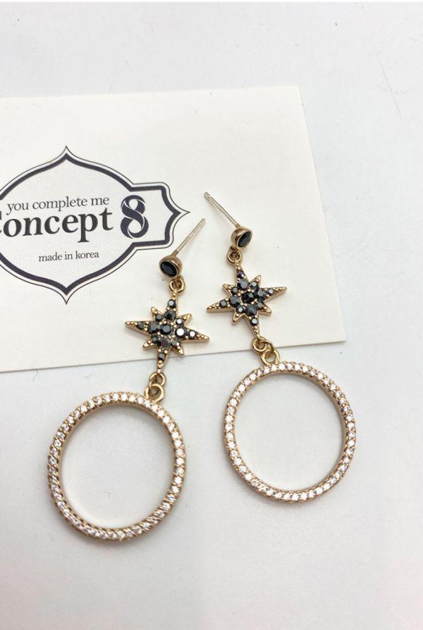 【Concept8・ピアス】ブロンズポラリス ビッグサークル ダングル (両耳用/2個セット) (ピアス)