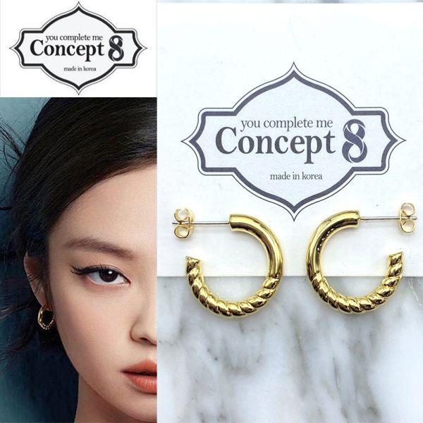 [Concept8] ニーブプチリングピアス (両耳用/2個セット)