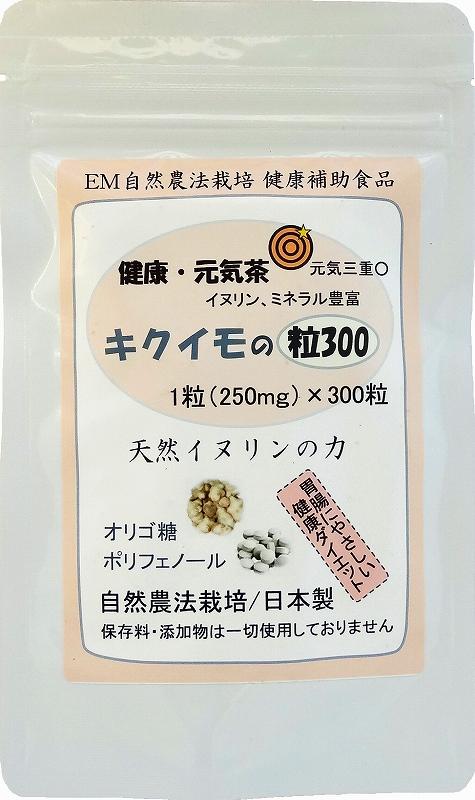 菊芋(キクイモ)の粒300 健康自然サプリ きくいも イヌリン食物繊維パワー 【全国送料無料】