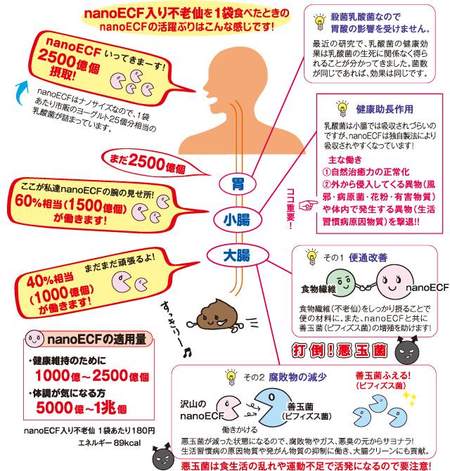 健康自然食品 不老仙 (ナノ乳酸菌+無農薬天然食物) nano乳酸菌 2500億個×25で 腸内環境改善