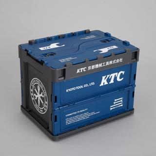 KTC折りたたみコンテナ 20L ブルー