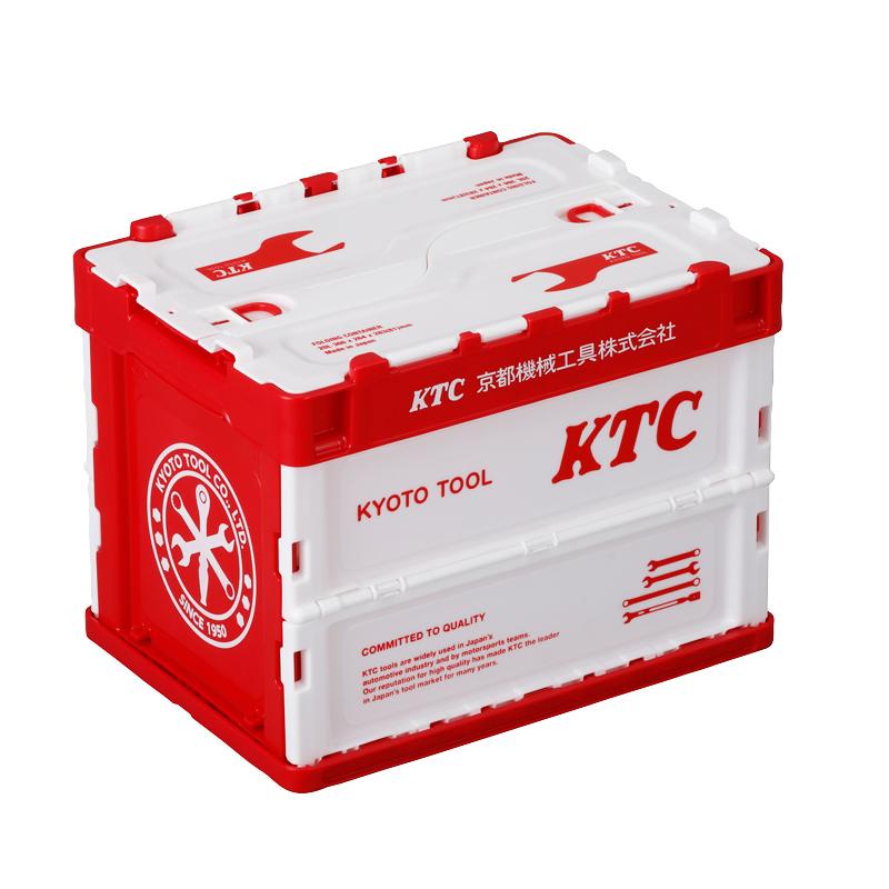 KTC折りたたみコンテナ 20L レッド×ホワイト