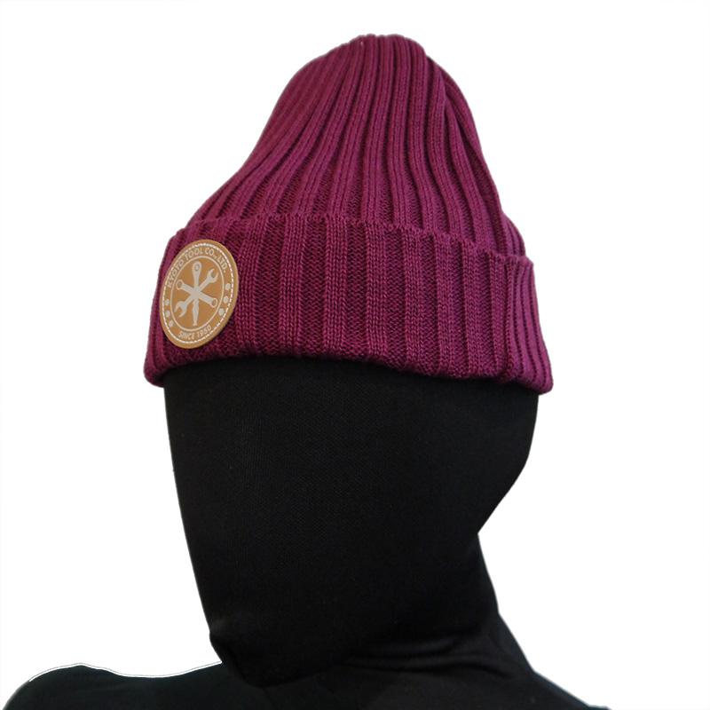 エンブレムニット帽