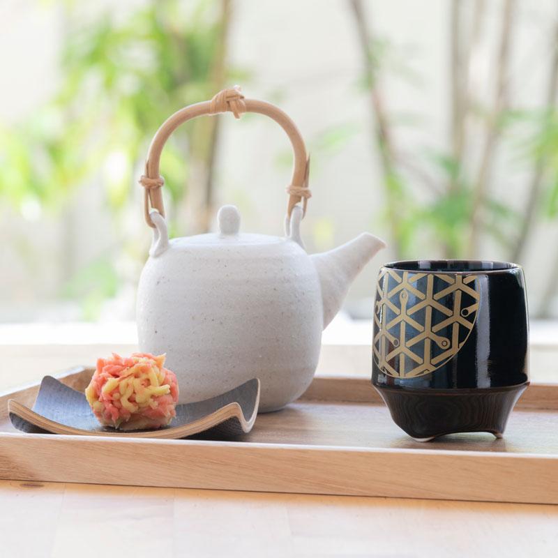 香酒盃(こうしゅはい) 工具柄亀甲紋