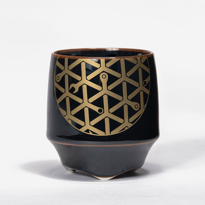 香酒盃(こうしゅはい) 工具柄亀甲紋<ペア>