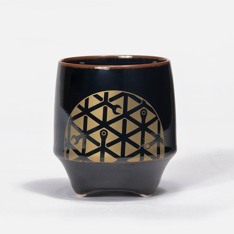 香酒盃(こうしゅはい) 工具柄亀甲紋&片口セット
