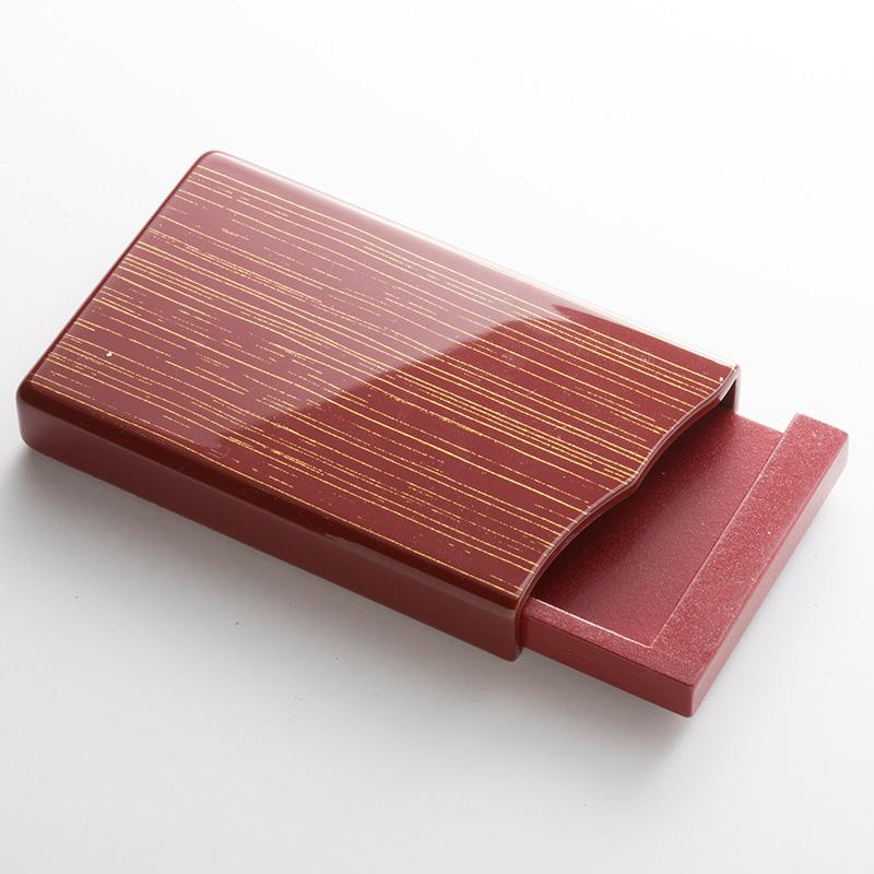 名刺 カードケース 純金色ライン