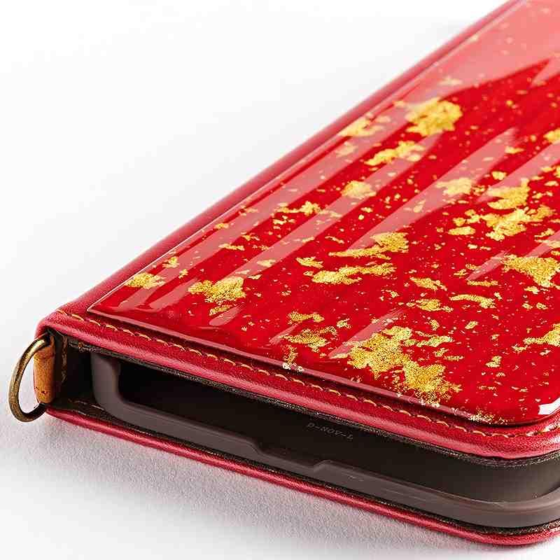 iPhone 8Plus・7Plus 専用 純金箔/プラチナ箔 グラデーション