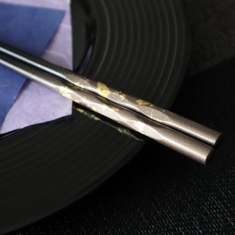 箸 天然木 純金箔 高級箸  23cm 高品質 ギフトBOX入り
