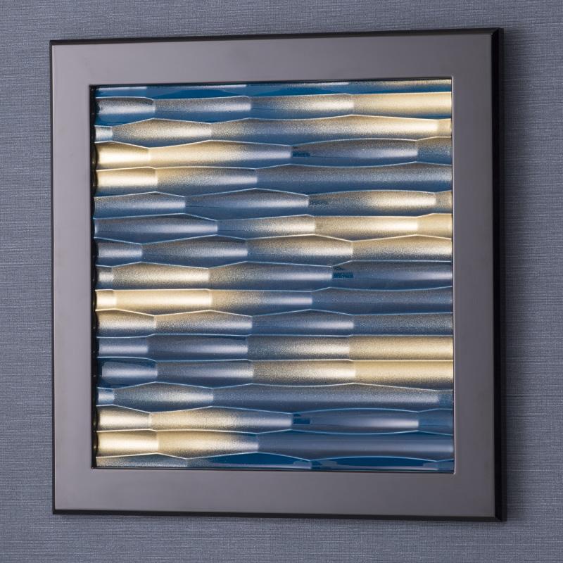 アクセントウェーブ 壁パネル【大】 ディスプレイ 鏡面塗装 W500×H500