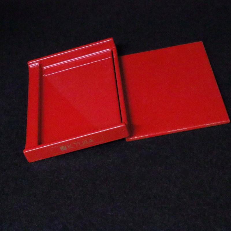 木製 名刺ケース 市松模様 カードケース ギフトBOX入り