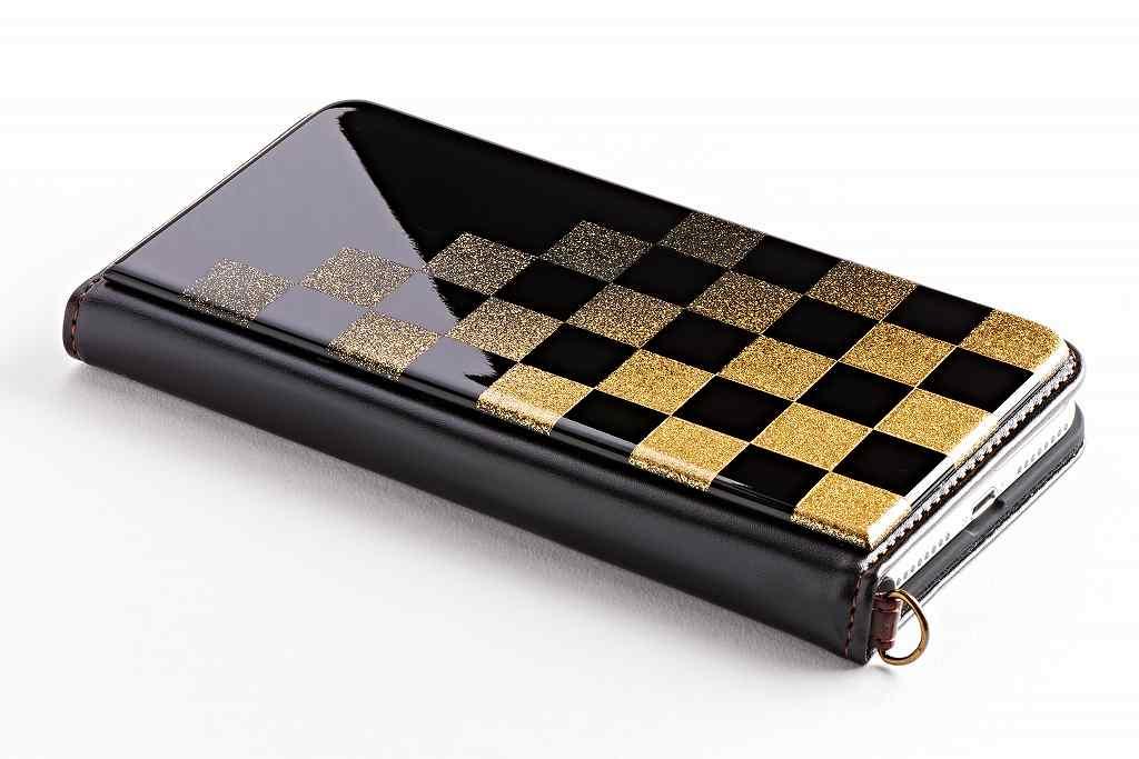 iPhone12mini 5.4インチケース,iPhone12 6.1インチケース,iPhone12MAX 6.7インチ専用ケース 純金色 市松模様 2色