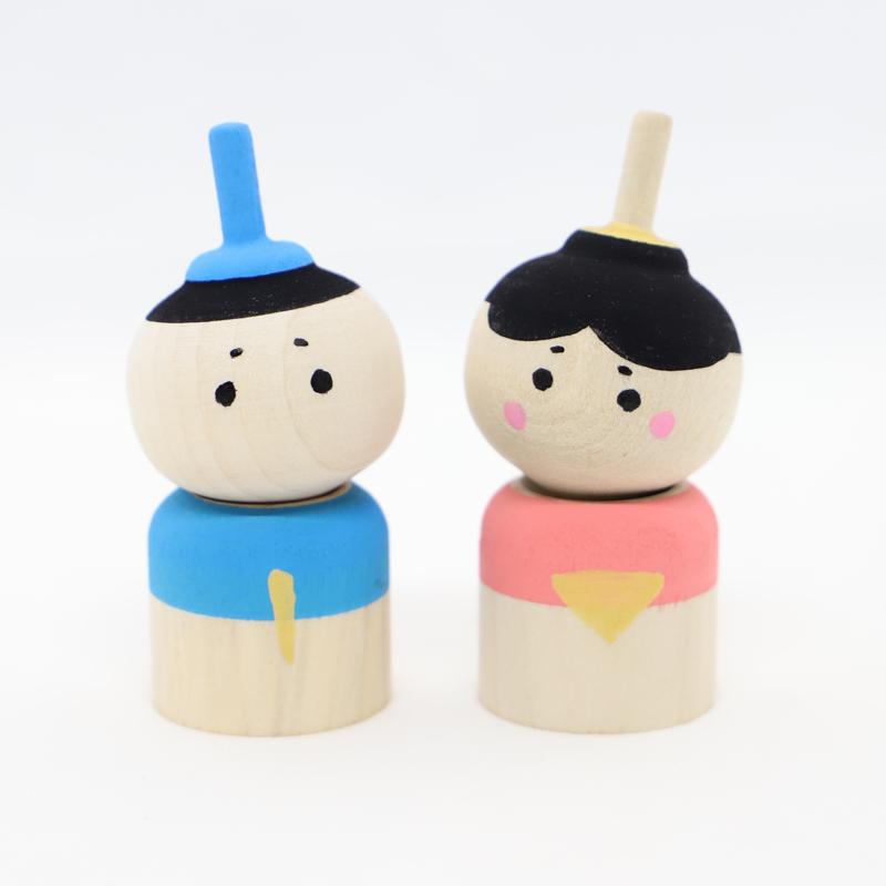 こま人形(お内裏さま)【雛祭り】【雛人形】【桃の節句】