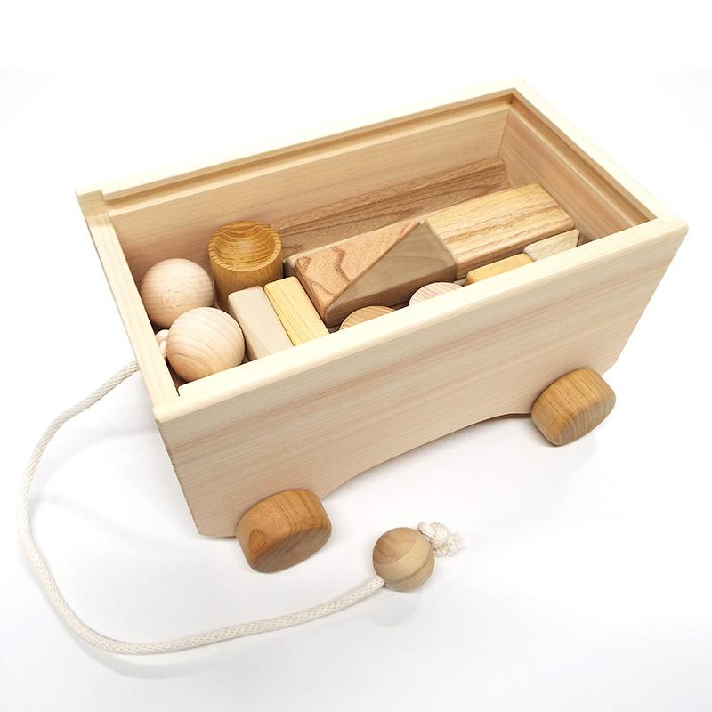 積み木カー(積木入り)【おもちゃ箱】【積木の車】