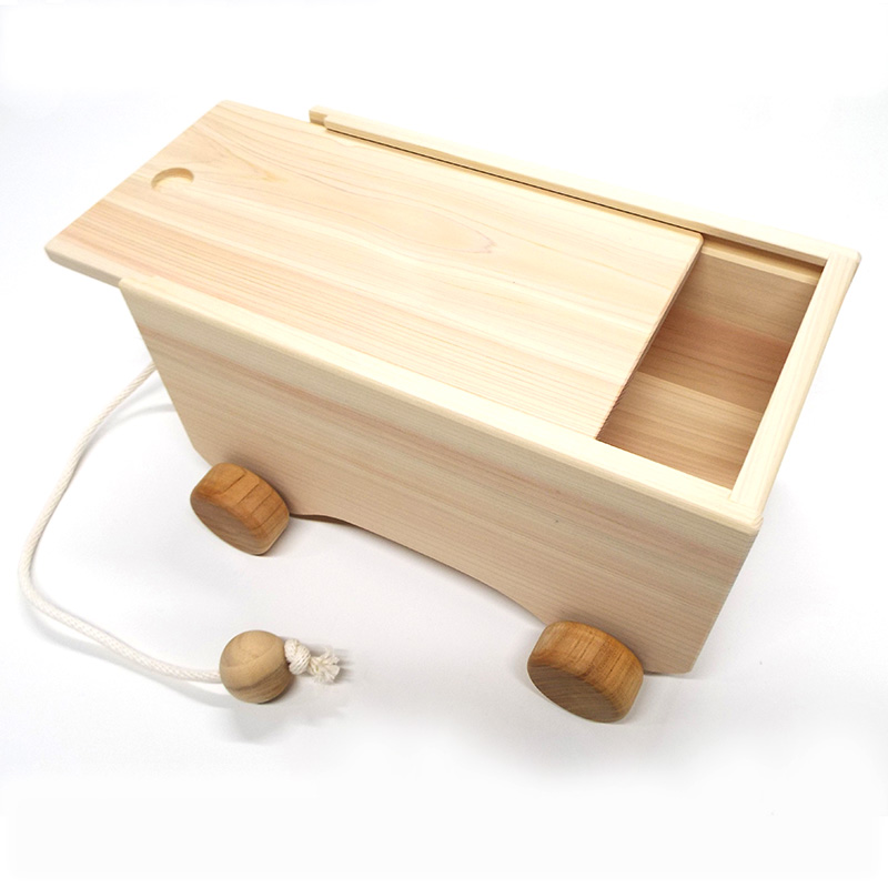 【予約販売】つみ木カ−(積み木入り)【おもちゃ箱】