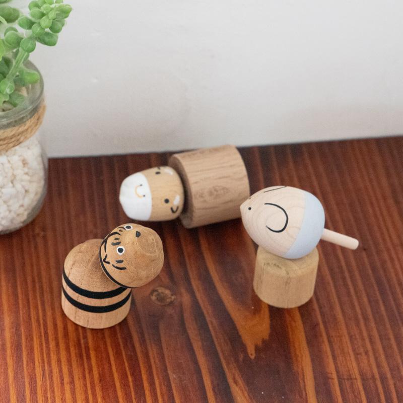 こま人形(とら)【寅】【干支飾り】【寅年】【飾りこま】