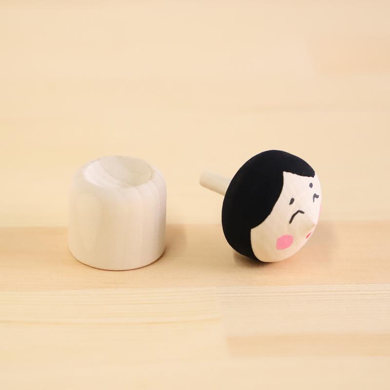 こま人形(招福おかめ)【幸】【笑顔】【おたふく】