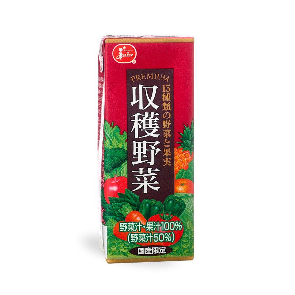 ジューシー プレミアム 収穫野菜 15種類の野菜と果実 200ml×24本【ジューシー】