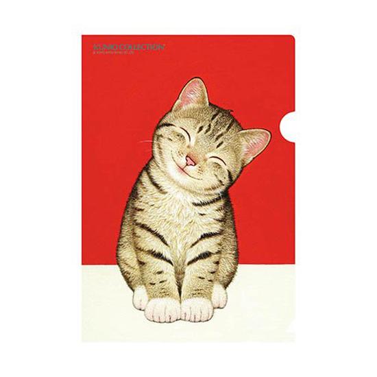 A5クリアファイル「笑顔がいちばん」ネコ