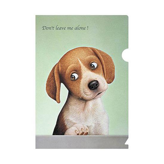 A5クリアファイル「ひとりぼっちにしないで」イヌ