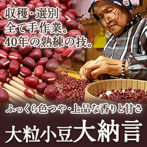 【大粒】大納言小豆(丹波大納言)【ふっくら色つや・上品な香りと甘さ】
