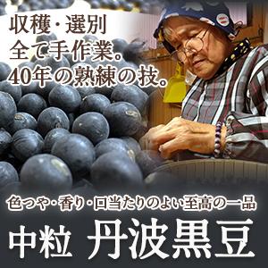 【中粒】丹波黒豆【色つや・香り・口当たり すべてそろった至高の一品】
